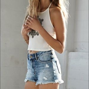 PacSun High Rise Distressed Short